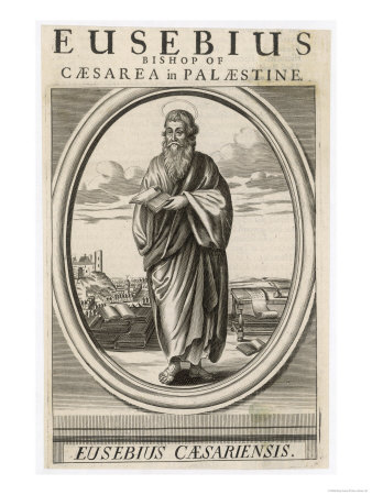 Antique engraving of Eusebius of Caesarea