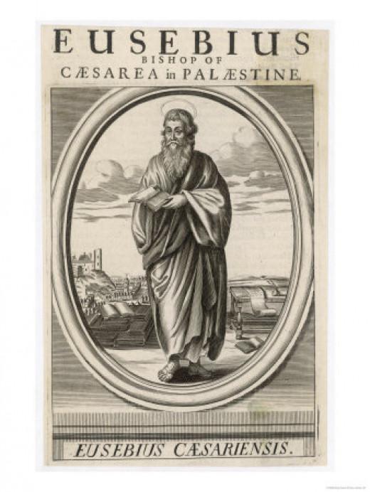Antique engraving of Eusebius of Caesarea
