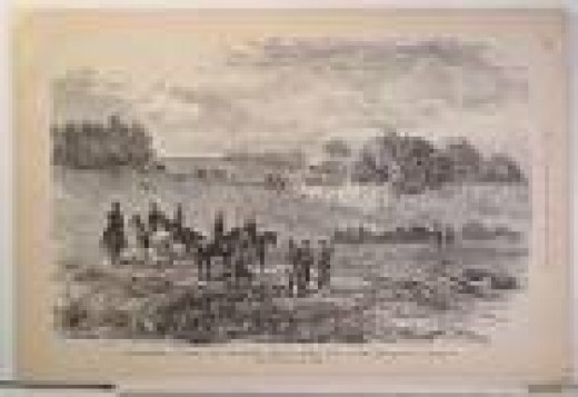 Sketch - unburied dead at the battlefield of Groveton, VA