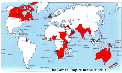 The British Empire in 1920.