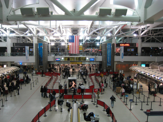 Bustling terminal 1 at JFK