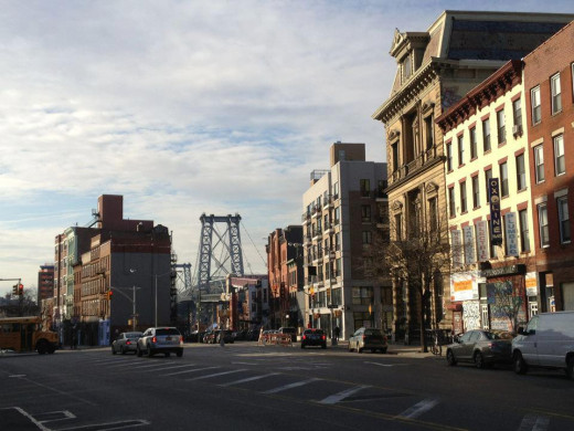 A view of hipstorically famous Williamsburg in Northern Brooklyn