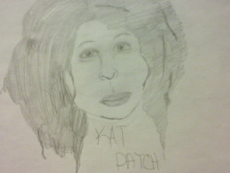 Kat Patch, my outlandish caricature.