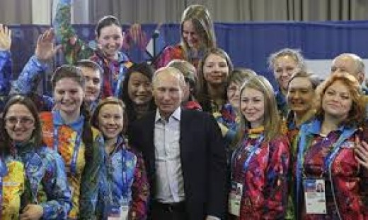 Uncle Vladimir on a charm offensive at Sochi a week before seizing Crimea.
