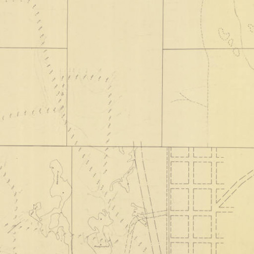 An example of a map of old mines in the area