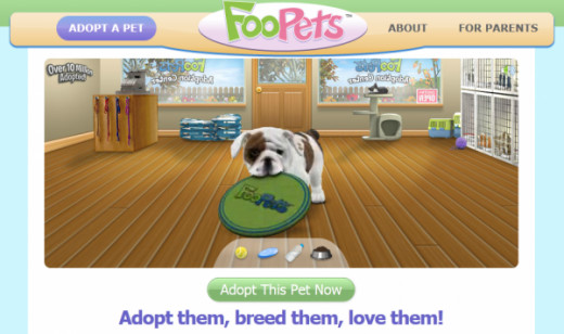 Footpets is an interesting game like Animal Jam