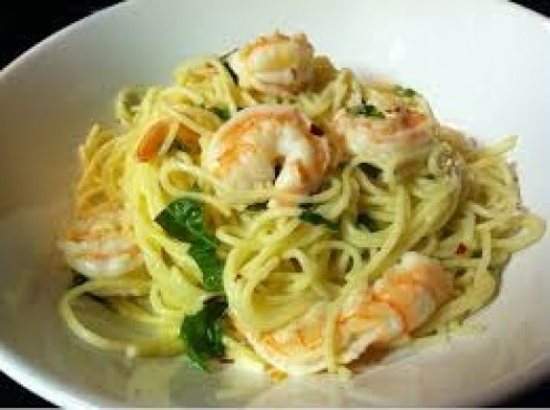 Garlic Shrimp linguine is a tasty lunch or dinner time meal. Always prepare the meal with the right amount of ingredients so that it turns out right.