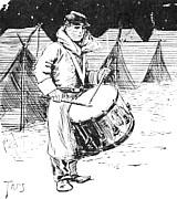 Sketch - a Union drummer boy plies his trade