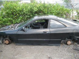 We woke up the next morning to find our car sitting on 4 cinder blacks. All four tires had been stolen.