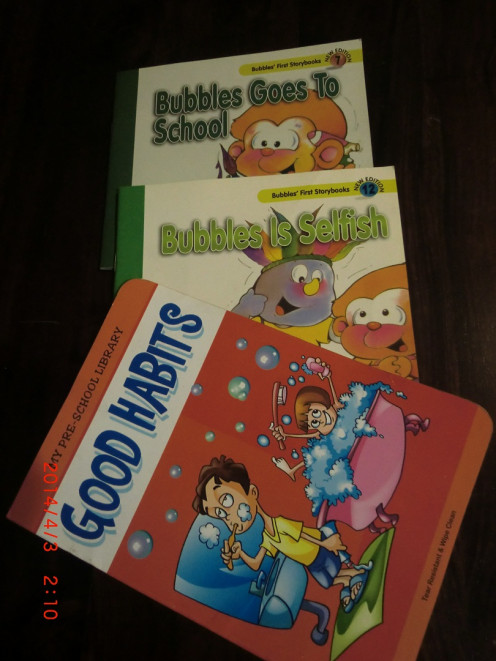 Books from Bubbles Series and Pre-School Library