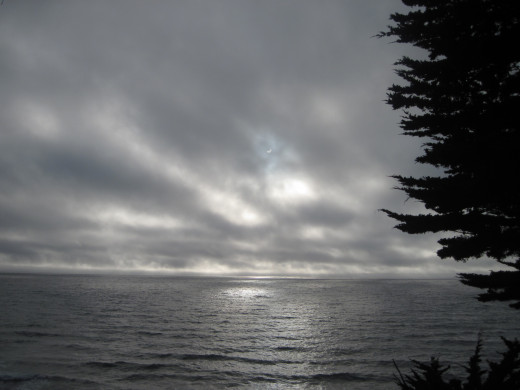 Annular solar eclipse at the beach.