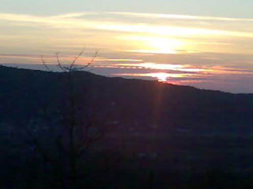 The beautiful sunset.