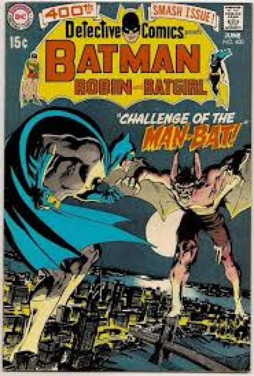 Man Bat makes his debut in Detective Comics # 400 from 1970.
