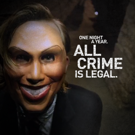 "A poster from the film ""The Purge"""