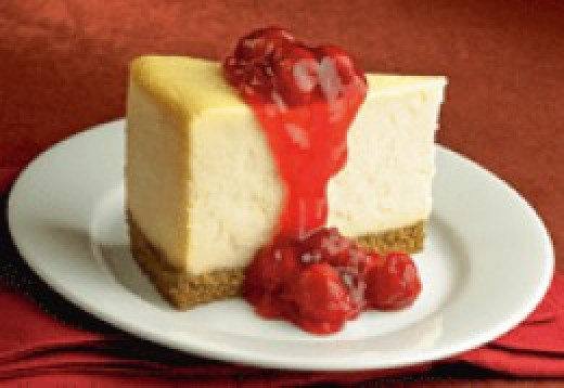 You know you want a slice of this cheesecake!