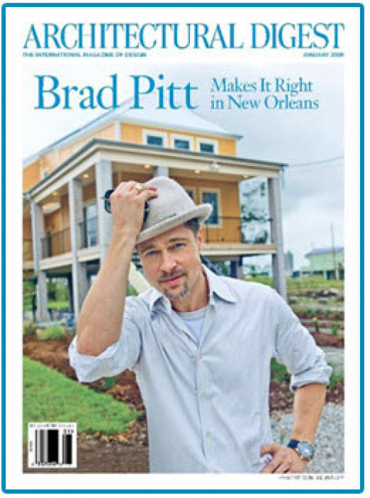 Brad Pitt on the cover of Architectural Digest