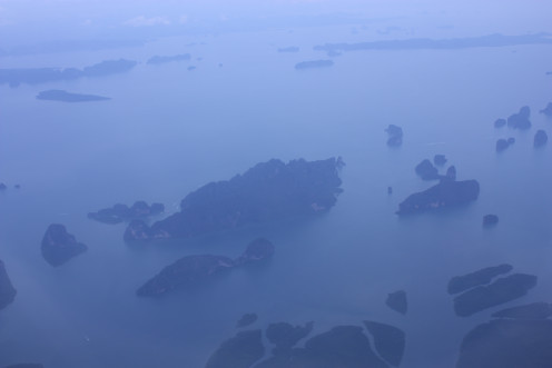 Aerial View of the Islands Near Phuket