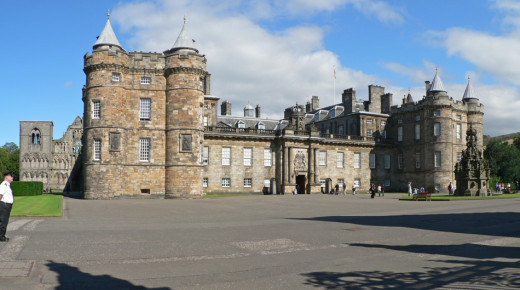 Holyrood Palace. The official residence of  Mary, Queen of Scots from 1561 until her forced abdication in 1567.