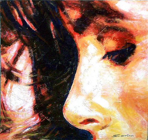 Face,  Pintura tecnica mixta, Vicen 23