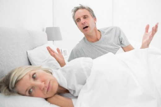 Man Trying to Talk To His Wife.