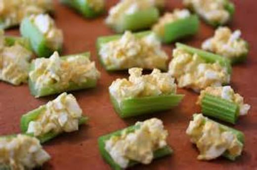 Stuffed Celery with Egg Salad