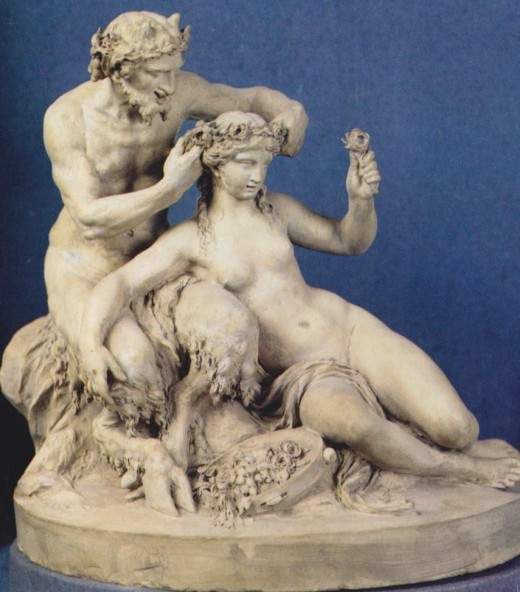 Satyr Crowning a Bacchante