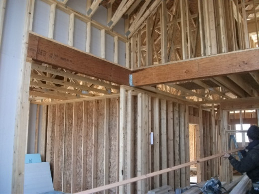 Interior framing of new home.