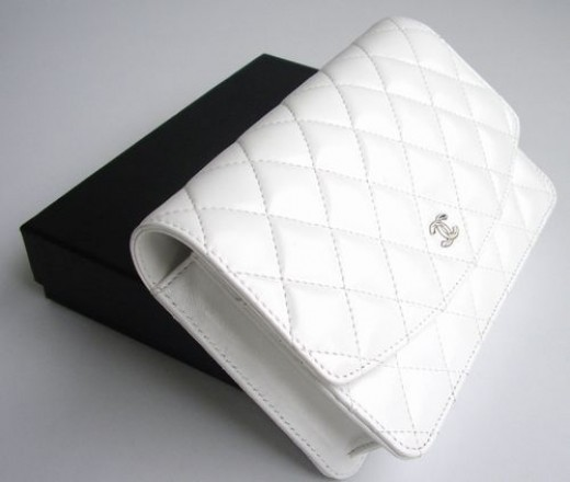 Chanel Quilted Clutch Bag Checkbook