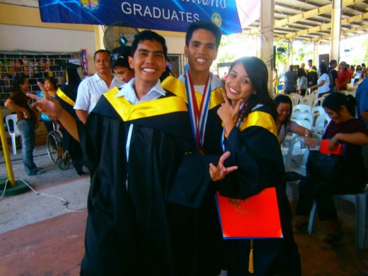 Personal photo of Mark Ferdinand G., (middle), group valedictorian