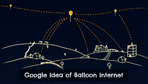 Google idea of reaching tough terrains with Internet via high flying balloons