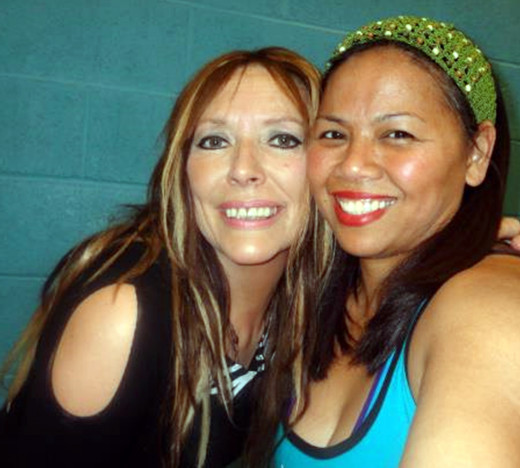 This is me (on the left) with my sister-in-law, Liza.