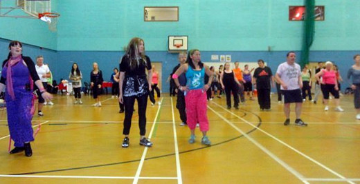 My enthusiasm at the charity Zumbathon wasn't matched by my dance skills and I often found myself lost during the routines!