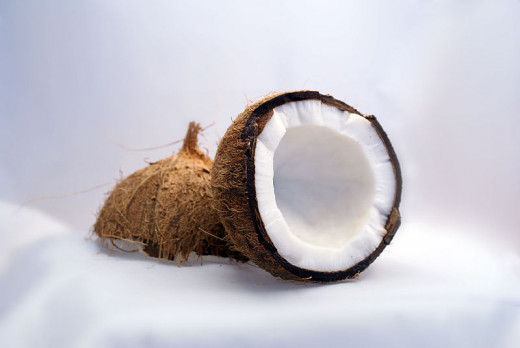 Coconut, broken into halves
