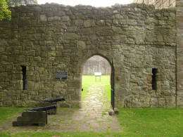Through this gate on the night of May 2nd, 1568, Mary Queen of Scots made her escape.