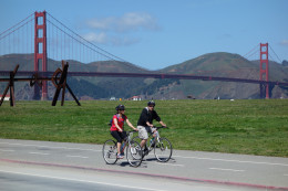 Riding along Crissy Field