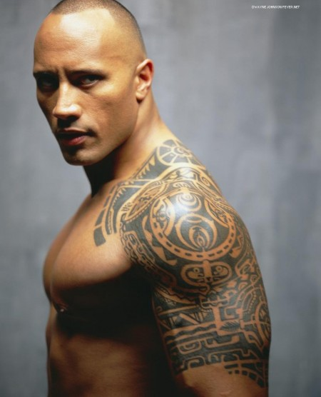 One of the Rock's famous tattoos.