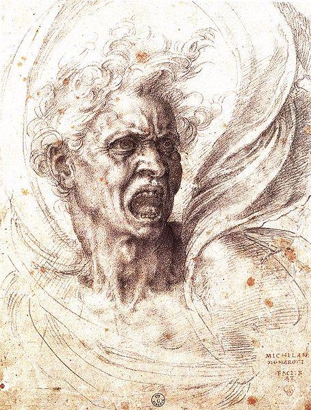 Damned Soul by Michelangelo Buonarroti