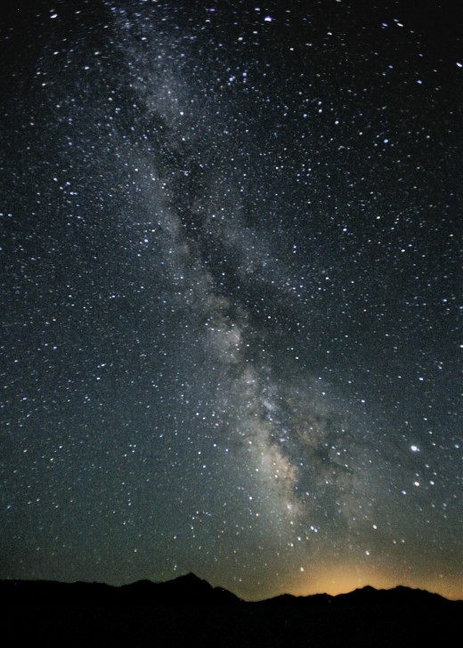 Photograph of the Milky Way in the night sky over Black Rock Desert, Nevada