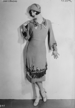 Though this photo is from 1927, Joan Crawford came to typify the flapper image.
