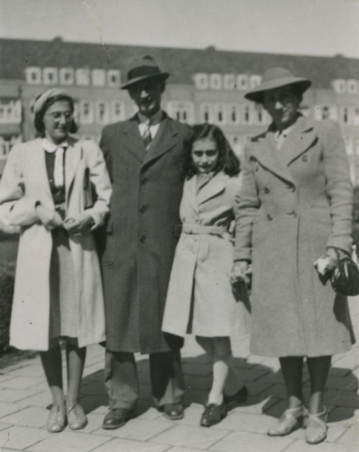 The Frank family in 1941, in front of their home in Amsterdam