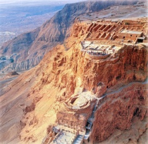 Masada a heritage site, once the home of King Herod