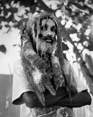 Patrick Cariou appears in native garb when he lived among the Rastafarian people for six years
