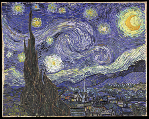 The Starry Night by Vincent Willem van Gogh