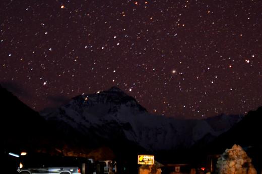 Starry Night at Mount Everest photo by Matt Wier