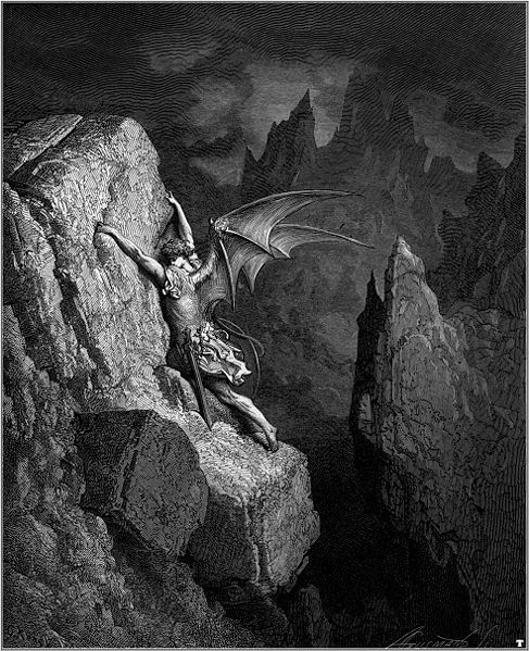 The fall of Lucifer- Paradise Lost by Gustave Dore