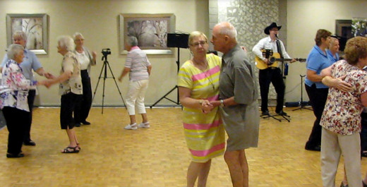 Seniors being entertained in Newcastle by leading seniors entertainer Adam Price.