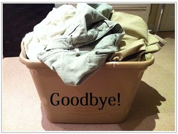 And say bye to items you know are well beyond their days.