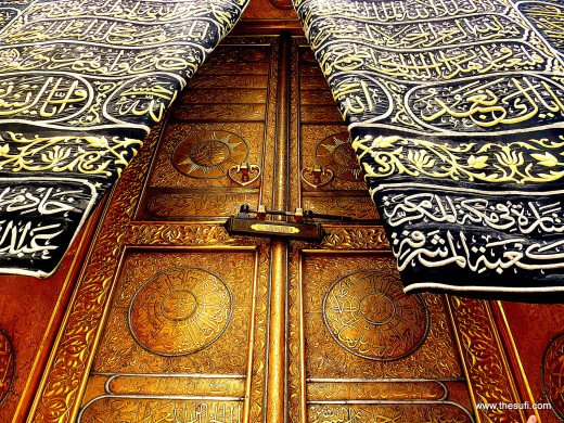 Kaba Door in Makkah, Saudi Arabia