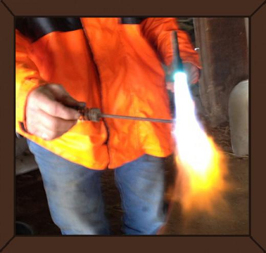 #2  Russ Heating the Iron