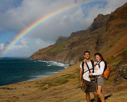 A Colorful Kalalau Rainbow